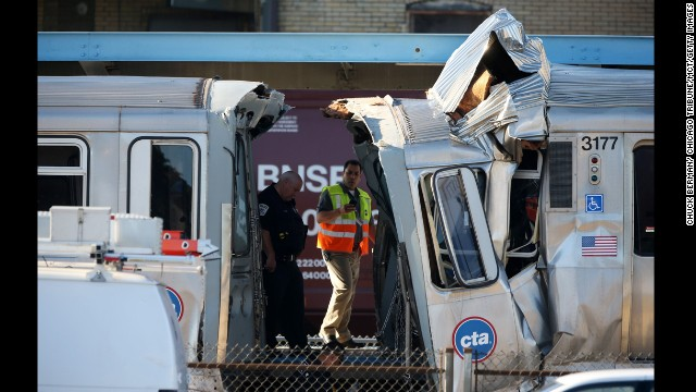 Photos: Chicago train crash