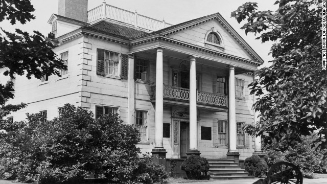 Morris-Jumel Mansion: Built in 1765 in New York, this Georgian-style colonial home could be <a href='http://www.nytimes.com/1981/10/31/nyregion/about-new-york-belief-in-ghost-haunts-a-historic-mansion.html ' target='_blank'>haunted by the ghost of Eliza Jumel</a>, the woman who married onetime U.S. Vice President Aaron Burr and divorced him the day he died.
