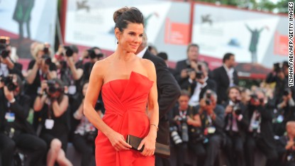 US actress Sandra Bullock arrives for the opening ceremony of the 70th Venice Film Festival and the screening of the movie