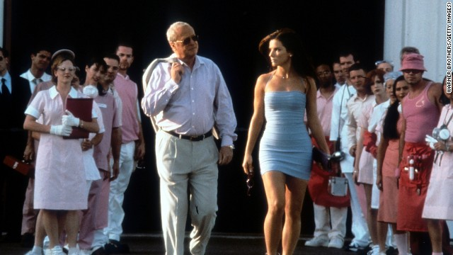 Michael Caine walks with Bullock in a scene from the 2000 film
