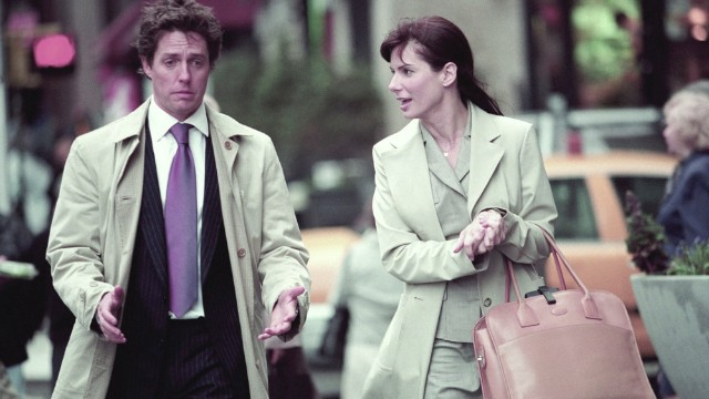 "Hugh Grant and the actress have chemistry in 2002's ""Two Weeks Notice."""