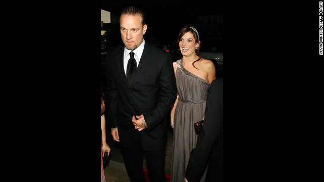 In 2007, Bullock steps out with her then-husband, Jesse James, at the premiere of
