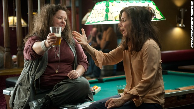 "Melissa McCarthy and Bullock bring the funny as law enforcement partners in 2013's ""The Heat."""
