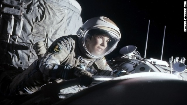 "Bullock is set adrift in space in the 2013 thriller ""Gravity."""