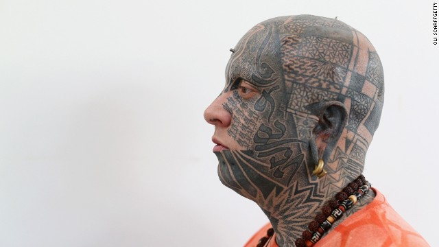 Both themes were a reminder of how tattoos -- worn by sailors, explorers and other exotic types -- have long been intertwined with travel. The tattooed heads on show were harder to interpret -- but at least they returned to tattooing some of its outsider caché.