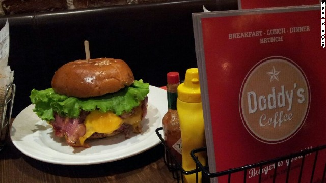 "Behold the ""Zlatan burger"", a mountain of meat dedicated to Paris Saint-Germain's star striker Zlatan Ibrahimovic. The $41 monster is the brainchild of French cafe manager Jean-Philippe Grandin."