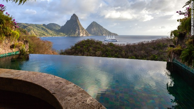High-end Caribbean resorts such as Jade Mountain is St. Lucia offer fall package rates well below their peak-season prices.