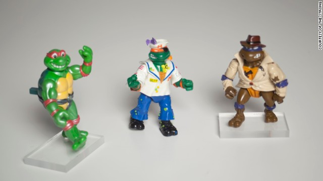 Leonardo, Michaelangelo, Donatello and Raphael comprise the fearsome fighting team known as the Teenage Mutant Ninja Turtles. They were among the finalists for induction into the National Toy Hall of Fame in 2013.