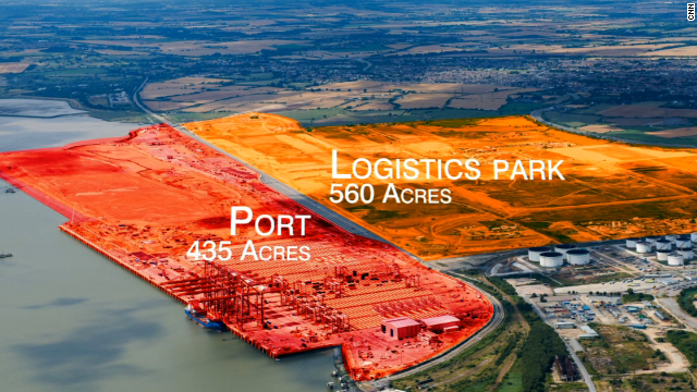 The giant facility is spread over a 995 acre area and will also host Europe's largest logistics park.