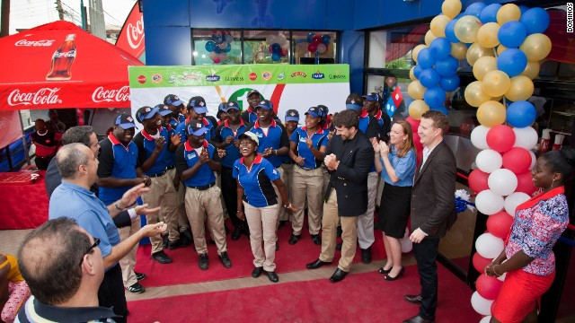 Domino's Pizza opens its first store in Nigeria's largest city, Lagos, in 2012.