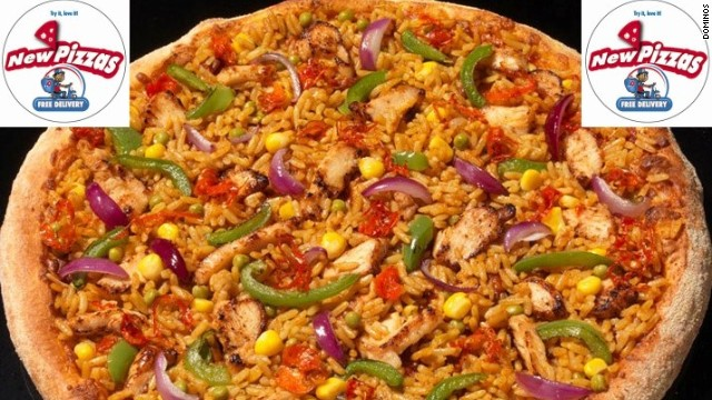 African franchises often introduce new dishes to cater to local tastes. Domino's Chicken Jollof Pizza is inspired by a rice-based dish popular in West Africa.