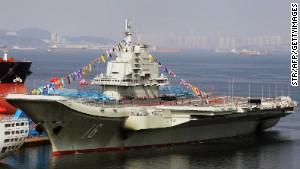China\'s first aircraft carrier is now in service.