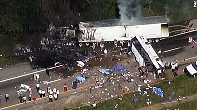 Eight people were killed in the crash in Tennessee in October.