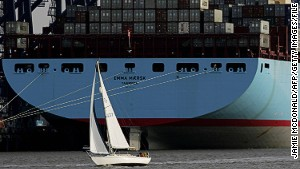 Mammoth ships force ports to adapt