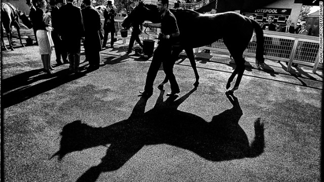 "Royal Ascot, Ascot, Berkshire, UK: ""At the start, I'll probably go to the pre-parade ring just to have a look to see if there are any shadows. I'll just watch the horses go round (trying to capture) something you might not notice,"" Crowhurst says."