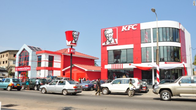 KFC in Accra, Ghana. The chain has more than 700 restaurants in Africa.