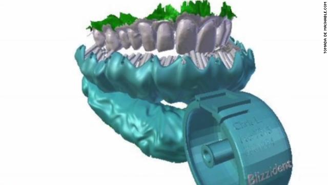Un cepillo impreso en 3D limpia los dientes en 6 segundos