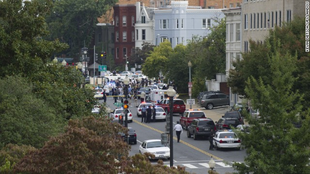 Capitol Hill Police respond to reports of gun shots.