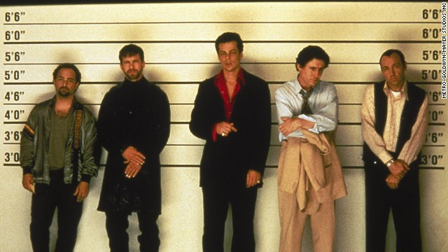"""The Usual Suspects"" -- with Kevin Pollak, Stephen Baldwin, Benicio del Toro, Gabriel Byrne and Kevin Spacey -- <a href='http://www.oscars.org/oscars/ceremonies/1996' target='_blank'>won an Academy Award for Best Original Screenplay, by Christopher McQuarrie</a>. Nonetheless, Ebert didn't like it. <a href='http://www.rogerebert.com/reviews/the-usual-suspects-1995' target='_blank'>""I prefer to be amazed by motivation, not manipulation.""</a>"
