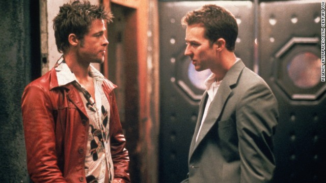 "Just who is the destructive Tyler Durden (Brad Pitt, left), and why does he keep tormenting Edward Norton's unnamed narrator in<strong> ""Fight Club""</strong> (1999)? Well, there's a reason only Norton's character can see Durden -- he exists only in the narrator's troubled mind."