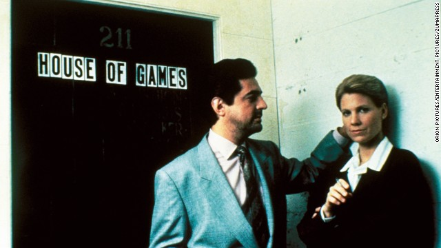 "Psychiatrist Margaret Ford (Lindsay Crouse) gets sucked into an underworld of con men led by Mike (Joe Mantegna) in<strong> ""House of Games""</strong> (1987). She thinks she's studying them, but as the old poker-table saying goes, if you don't know who the sucker is, you're the sucker. David Mamet, then Crouse's husband, wrote and directed."