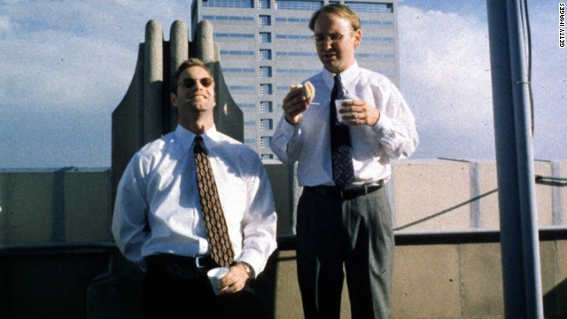 "Chad and Howard (Aaron Eckhart, left, and Matt Malloy) come up with a plan to break the heart of a deaf woman by dating her and then splitting with her in<strong> ""In the Company of Men""</strong> (1997). But it's Howard who ends up broken, blindsided by Chad's coldheartedness. Neil LaBute wrote and directed."