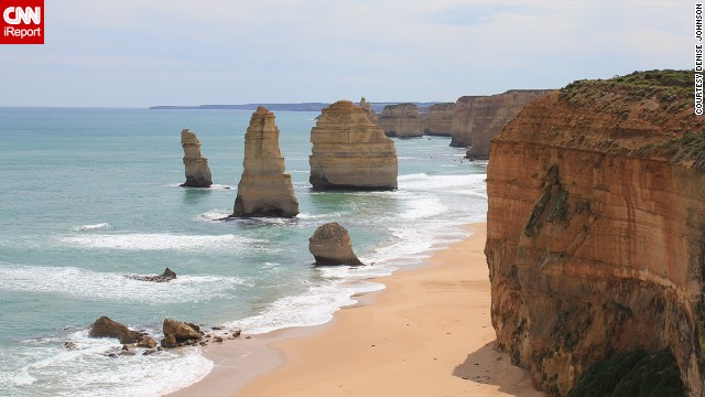 Several of Australia's legendary 12 Apostles -- those limestone rock formations on the shore -- are seen in Port Campbell National Park.