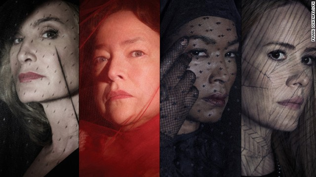 "According to reports, Jessica Lange, Kathy Bates, Angela Bassett and Sarah Paulson are set to return for the new season of ""American Horror Story,"" which creator <a href='https://twitter.com/MrRPMurphy/status/448145257918513153' target='_blank'>Ryan Murphy tweeted</a> will be titled ""American Horror Story: Freak Show."" The four are fresh off the most recent season of ""American Horror Story,"" in which they played powerful witches. Their performances put them on our list of celebrated witches in pop culture."