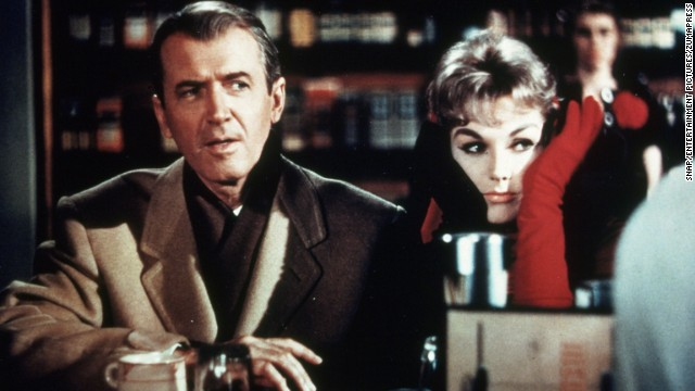 "For their second film together, ""Vertigo"" stars Kim Novak and Jimmy Stewart went supernatural with 1958's ""Bell, Book and Candle."" Novak was the one with tricks up her sleeve in this romantic comedy, as her character, Gillian, casts a spell on Stewart's Shep Henderson, causing him to leave his fiancee and fall for her. Jack Lemmon and Ernie Kovacs also star."