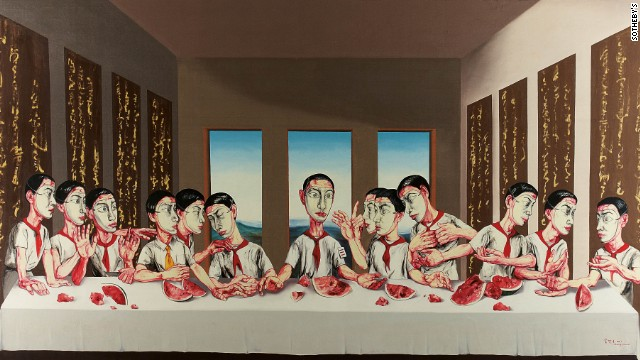 Zeng Fanzhi's The Last Supper scored an auction record for Asian contemporary art.