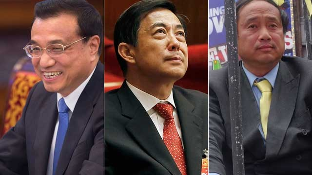 Li Keqiang (L), Bo Xilai (C) and Wang Juntao (R) emerged from China's Peking University and embarked on very different lives.