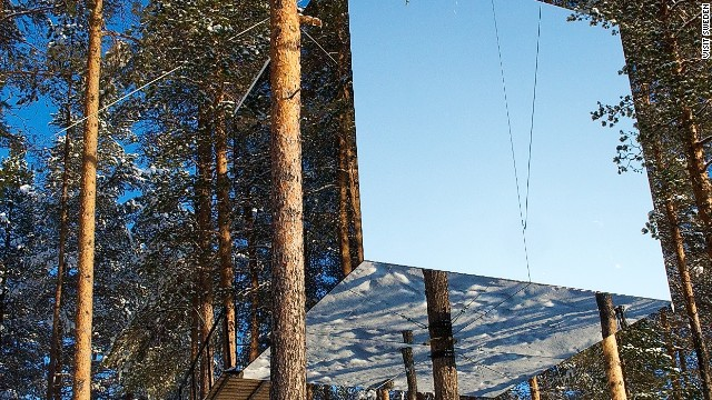 Sweden's simply named Treehotel, with six individually designed cabins including the Mirrorcube, lies just south of the Arctic Circle.