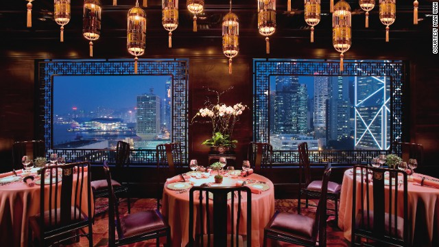 <strong>10.</strong> <a href='http://www.mandarinoriental.com/hongkong/fine-dining/' target='_blank'>Man Wah at the Mandarin Oriental</a> (Hong Kong)