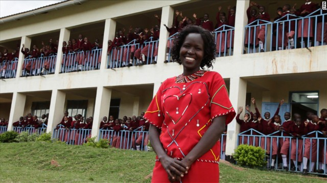 "Kakenya Ntaiya is inspiring change in her native Kenyan village. After becoming the first woman in the village to attend college in the United States, she returned to open the village's first primary school for girls. ""Our work is about empowering the girls,"" Ntaiya said. ""They are dreaming of becoming lawyers, teachers, doctors."""