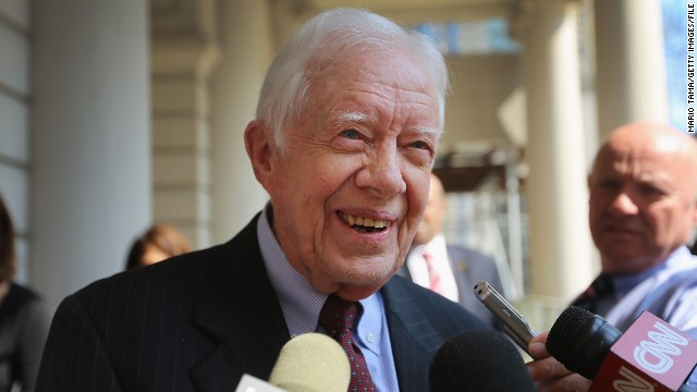 "Jimmy Carter has spent much of his time post-presidency as a human rights activist and author. The rights of women was high on the agenda during his <a href='http://www.cartercenter.org/news/features/p/human_rights/2013-policy-forum-remarks.html' target='_blank'>speech in May at the Carter Center conference</a> and now the former U.S. president wants to write a book on the treatment of women. In his book proposal, as <a href='http://www.nytimes.com/2013/09/10/business/media/jimmy-carter-seeks-to-write-book-on-treatment-of-women.html?_r=1&' target='_blank'>reported by The New York Times</a>, he wrote: ""I am convinced that discrimination against women and girls is one of the world's most serious, all-pervasive and largely ignored violations of basic human rights."""