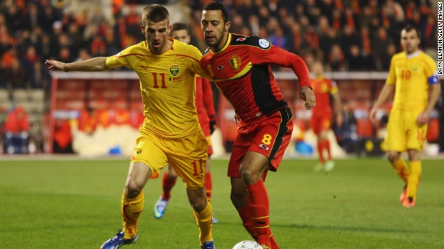 Mousa Dembele (right) is a key part of the Belgium side hoping to qualify for the 2014 World Cup in Brazil.