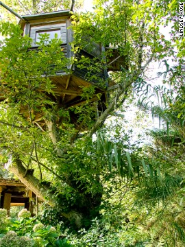 Should you tire of leafy life, Walnut Tree Farm -- a basic wooden tree house, mainly taken up by a double bed -- is near some of the Algarve's best beaches.