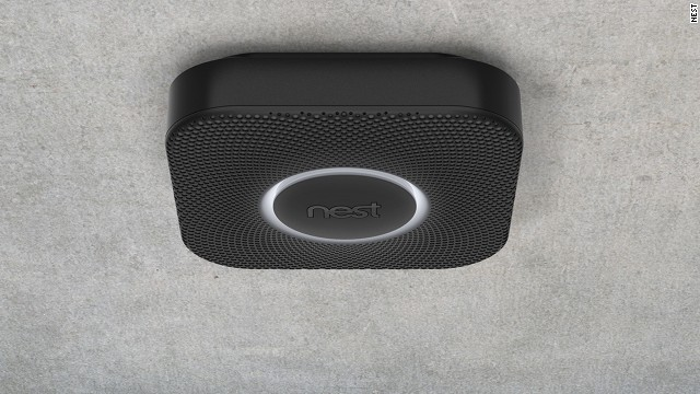 The Nest Protect smoke and carbon monoxide alarm will send alerts to mobile devices and adds a human voice.