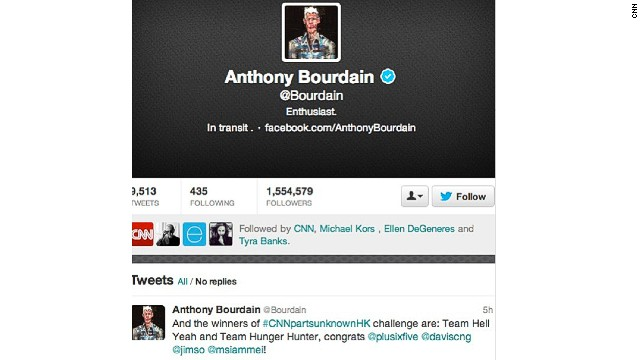Anthony Bourdain announced the winners via his <a href='https://twitter.com/Bourdain' target='_blank'>Twitter account</a>.