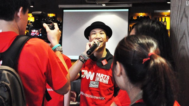 Johannes Pong, from CNN event partner Little Adventures in Hong Kong, was co-MC for the event.