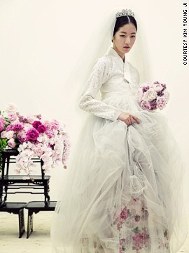 Designers are introducing new elements, such as floral-patterned fabrics, and Western accessories for a contemporary, high fashion take on hanbok.