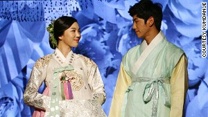 Hanbok is worn by men and women, and often seen at Koreean weddings,