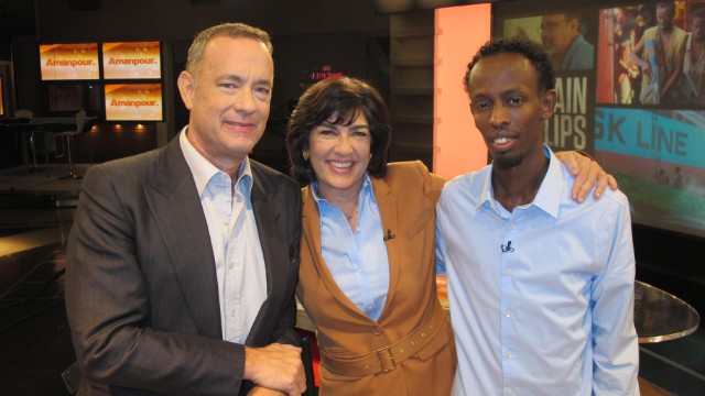 "Hanks holds 'mirror up to nature' in ""Captain Phillips"""