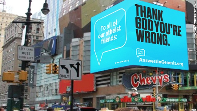 Billboard wars: Creationists vs. atheists