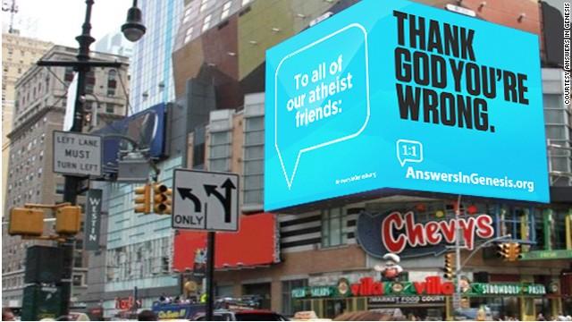 Creacionistas se burlan de ateos en guerra de vallas publicitarias