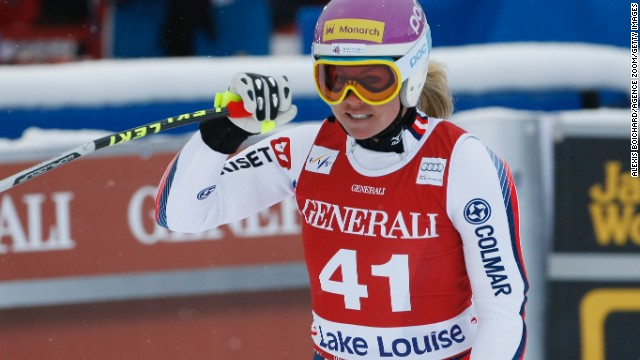 That fall was just two months after her heroic return to World Cup skiing in Lake Louise on the same course where she had crashed. She insists she does not remember the crash that nearly ended her career.
