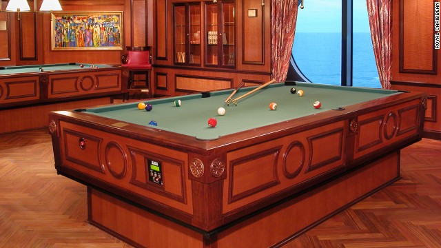 Royal Caribbean's cruise ship, <i>Radiance of the Seas</i>, has the solution for those considering a game of pool in rough seas. Its gyroscopic pool table has what's known as gyroscopic self-correcting underpinnings, which means that, in rough seas, when the boat tilts one way, the pool table tilts the other to keep everything on the level.