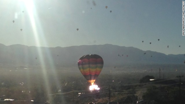 The crash happened during the Albuquerque International Balloon Fiesta, dubbed the