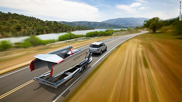 We've all folded a paper plane and watched with pride as it soars through the air. But what if the plane was a fully functioning full-sized aircraft? Well, the Icon A5 is exactly that. With folding wings, the airplane is compact enough to be stored in a garage and towed along the freeway.