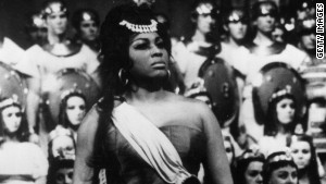 Leontyne Price of the Metropolitan Opera in a dress rehearsal for \